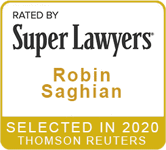 Super Lawyers: Robin Saghian, selected in 2020