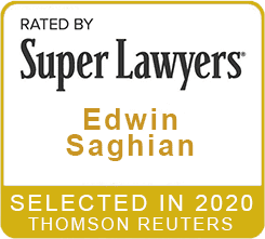 Rated by Super Lawyers 2020 Edwin Saghian