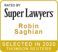 Rated by Super Lawyers 2020 Robin Saghian