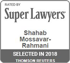Rated by Super Lawyers 2018 Shahab Mossavar-Rahmani