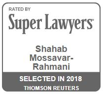 Super Lawyers: Shahab Mossavar-Rahmani, selected in 2018